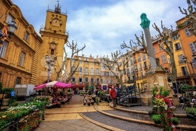 Aix-en-Provence Old Town market, France Stock Photo