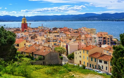 Historical Old Town of St Tropez, Provence, France Stock Photo
