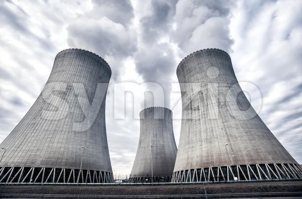 Nuclear power plant in Temelin, Czech Republic, Europe Stock Photo