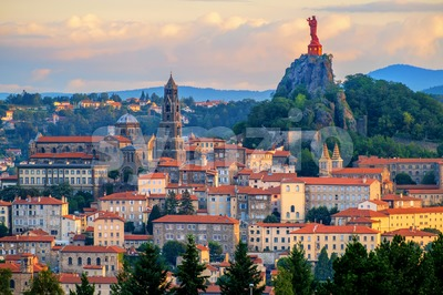 Le Puy-en-Velay Old Town, France Stock Photo