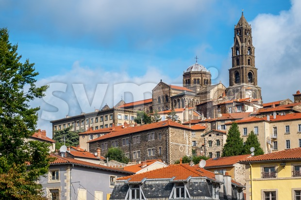 Le Puy Cathedral, a Roman Catholic church in Le Puy-en-Velay, Auvergne, France. It is UNESCO World Heritage Site along France's ...