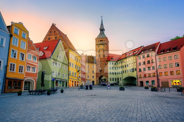 Landsberg am Lech historical Old Town, Bavaria, Germany Stock Photo
