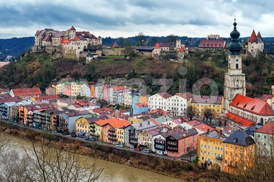 Medieval town Burghausen, Bavaria, Germany Stock Photo