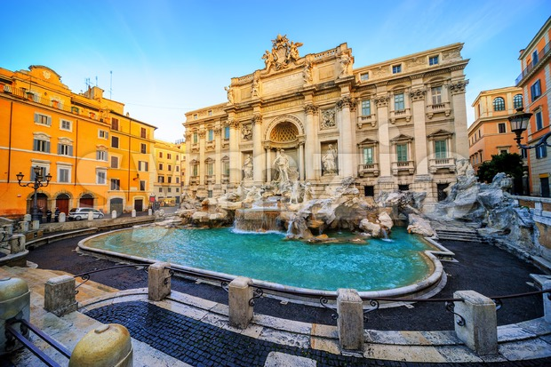 The Trevi Fountain, Rome, Italy Stock Photo