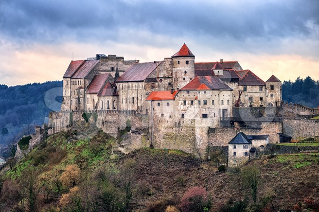 Historical castle Burghausen is the longest castle in Europe, Bavaria, Germany