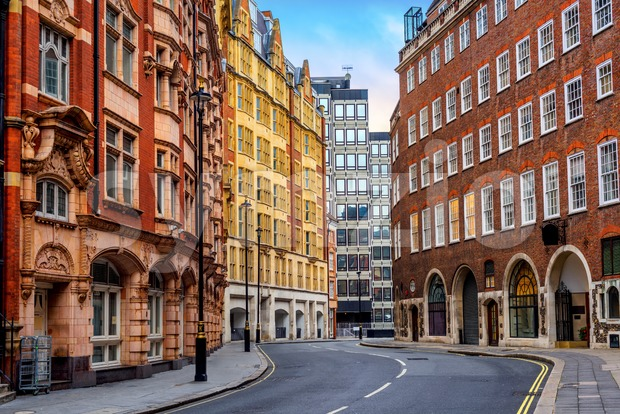 Historical buildings in London city center, England, UK Stock Photo