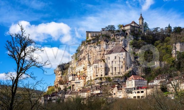 Rocamadour village, a beautiful UNESCO world culture heritage site, France Stock Photo