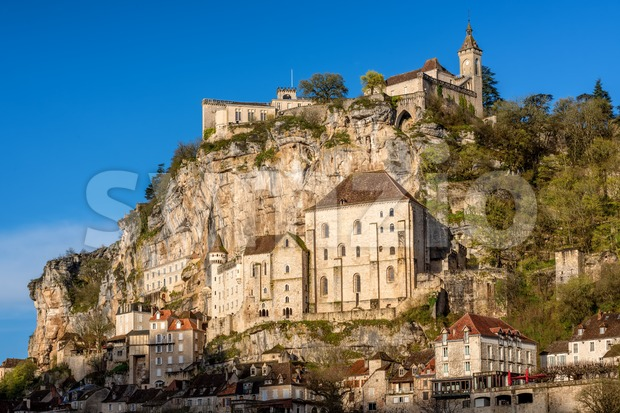 Rocamadour village, France, a beautiful medieval town a rock over a gorge, is an UNESCO world culture heritage site