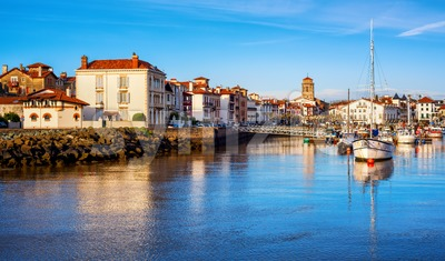 St Jean de Luz Old Town and port, Basque country, France Stock Photo