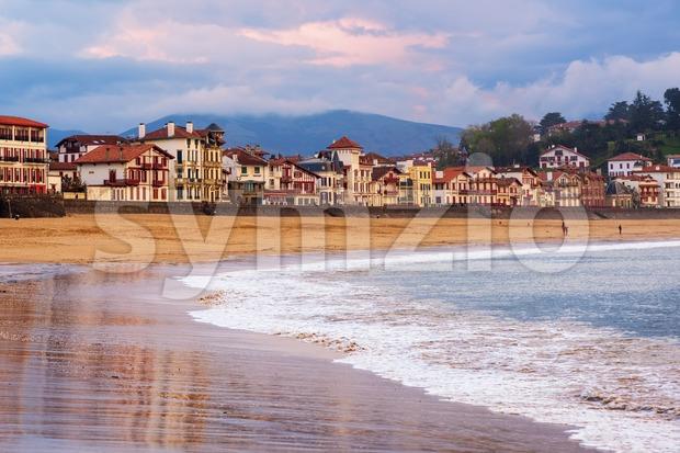 Saint Jean de Luz, Basque Coast, France, on sunset Stock Photo