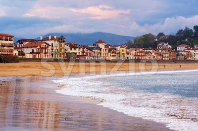 Saint Jean de Luz, Basque Coast, France, on sunset Stock Photo