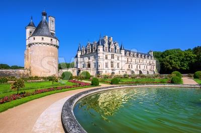 Chenonceau Castle, Loire Valley, France Stock Photo