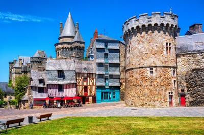 Vitre Old Town, Brittany, France Stock Photo