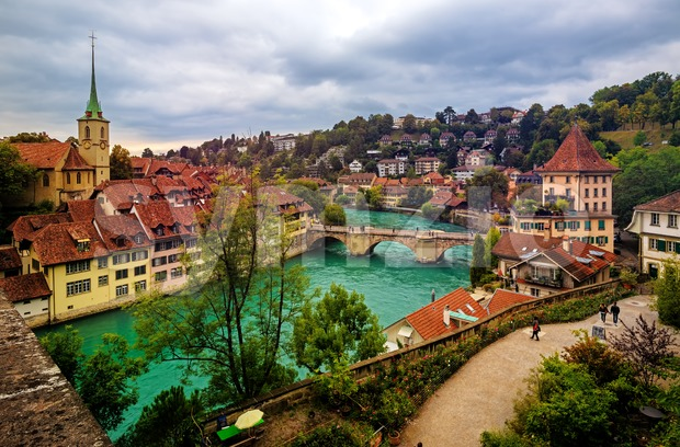 Bern historical Old Town, capital city of Switzerland Stock Photo