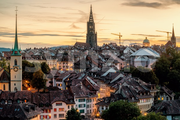 Historical Bern Old Town, Switzerland Stock Photo