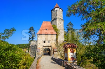 Historical medieval gothic castle of Zvikov, Czech Republic Stock Photo