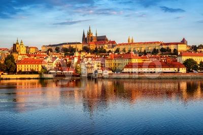 Prague Old Town, Czech Republic, on sunrise Stock Photo