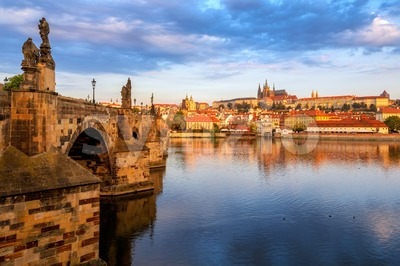 Prague Old Town, Czech Republic, on sunrise Stock Photo