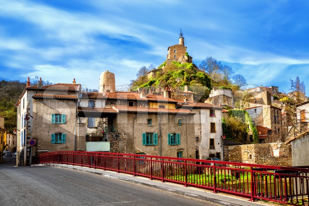 Champeix town in Puy-de-Dome department, Auvergne, France Stock Photo