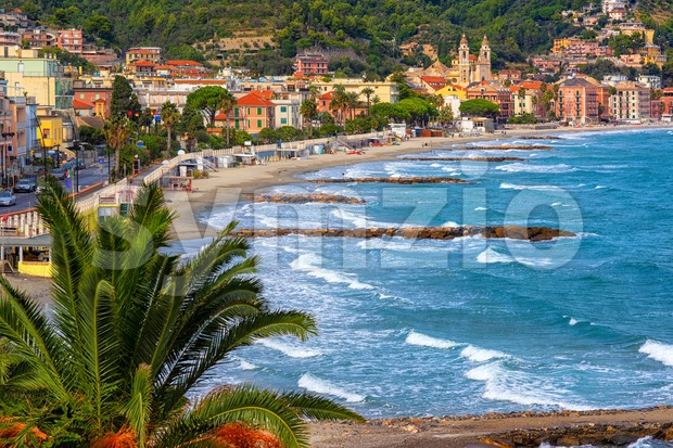 Laigueglia town on italian Riviera, Alassio, Liguria, Italy Stock Photo