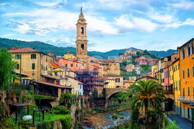 Dolcedo, picturesque medieval town in Liguria, Italy Stock Photo