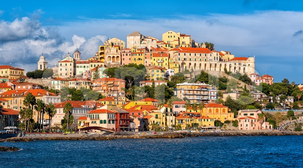 Imperia, a beautiful old town on italian Riviera, Italy Stock Photo