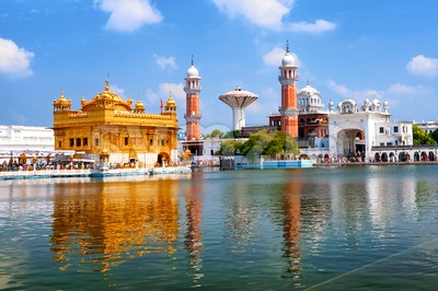 Golden Temple Harmandir Sahib in Amritsar, Punjab, India Stock Photo