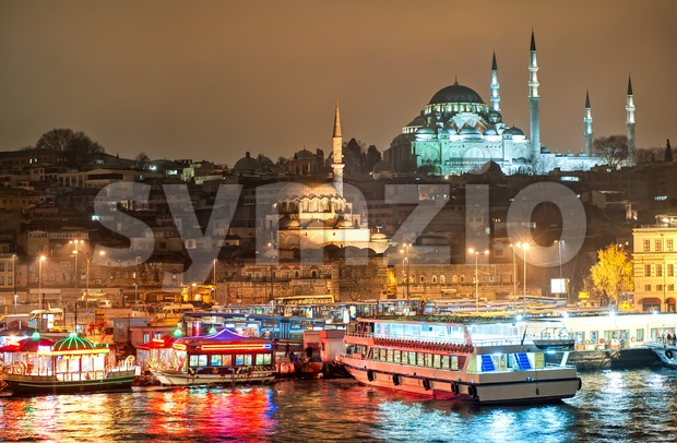 Istanbul, Turkey, at night Stock Photo