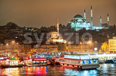 Istanbul, Turkey, at night Stock Photo