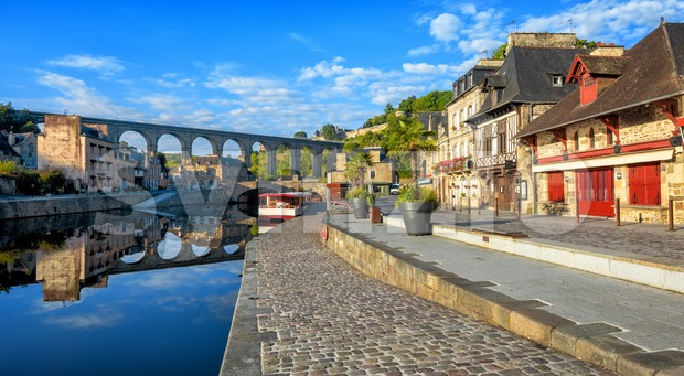 Dinan, Cotes d'Armor, Brittany, France Stock Photo