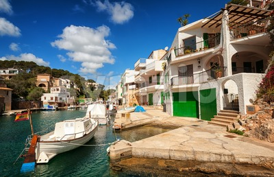 Cala Figuera on Mediterranean Sea, Majorca, Spain Stock Photo