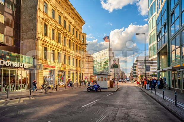 Berlin, Germany, Checkpoint Charlie Stock Photo