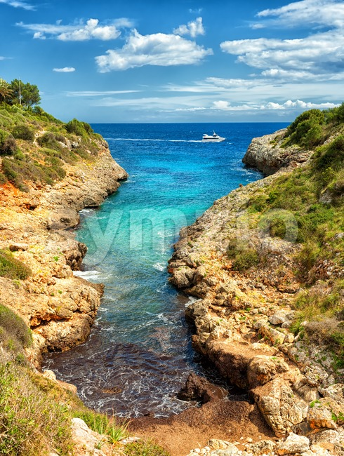 Cala Manacor, Porto Cristo, Mallorca island, Spain Stock Photo
