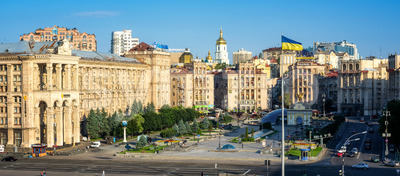 Kiev, Ukraine, Maidan Nezalezhnosti or Independence Square in the city center Stock Photo