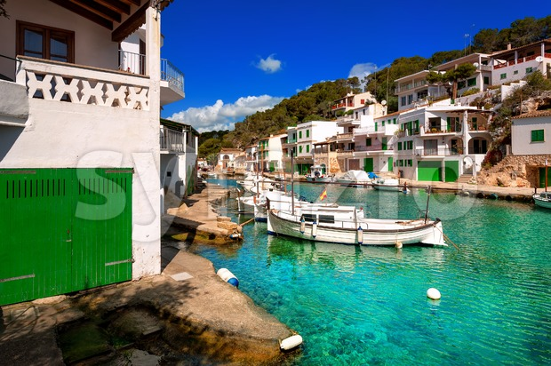 Fishermen village Cala Figuera, Mallorca, Spain Stock Photo
