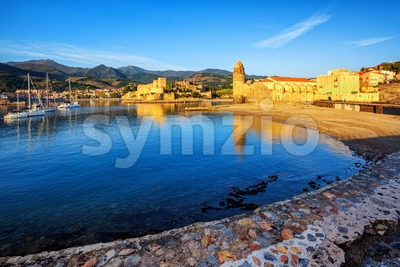 Collioure, France, historical resort town Stock Photo
