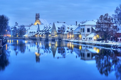 Landshut, historical town near Munich, Germany Stock Photo