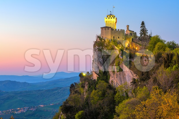 Cesta, the Second Tower of San Marino Stock Photo