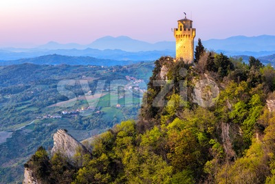 Montale, the Third Tower of San Marino Stock Photo