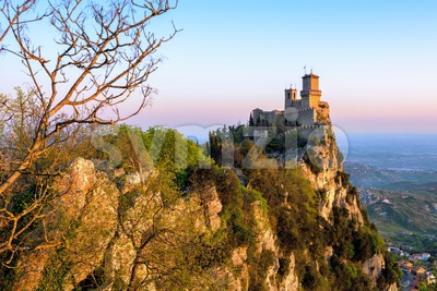 Guaita castle, the First Tower of San Marino Stock Photo