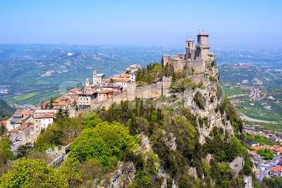 San Marino Old town, Republic of San Marino Stock Photo