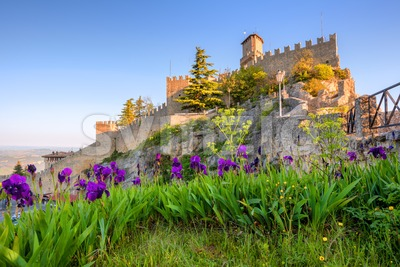 San Marino, Guaita tower castle Stock Photo