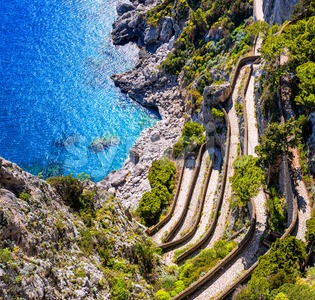 Via Krupps, Capri island, Italy Stock Photo
