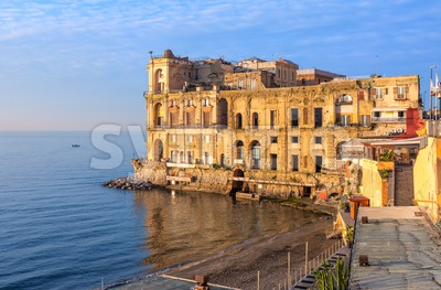 Villa Donn'Anna palace in Naples, Italy Stock Photo