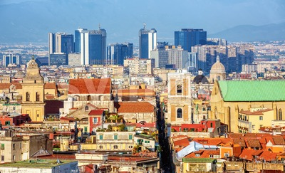 Naples city skyline, Campania, Italy Stock Photo