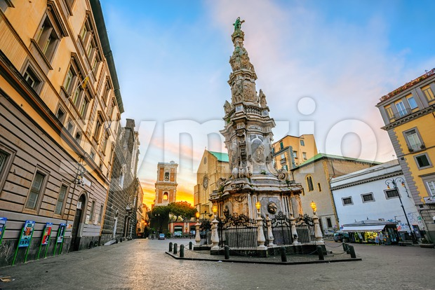 Gesu Nuovo square, Naples, Italy Stock Photo