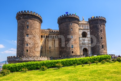 Castel Nuovo castle, Naples, Italy Stock Photo