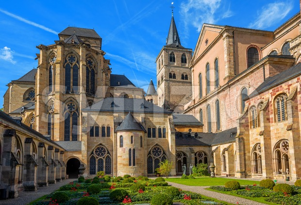 St Peter Cathedral, Trier, Germany Stock Photo