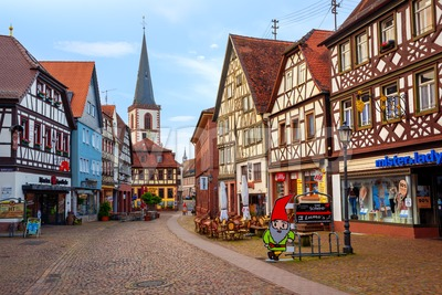 Lohr am Main Old town, Bavaria, Germany Stock Photo