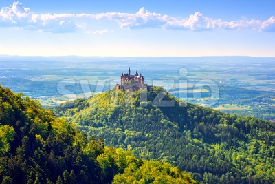 Burg Hohenzollern castle, Black forest, Germany Stock Photo